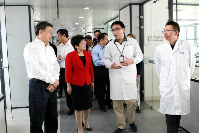 浙江美测欢迎台州市委书记莅临公司参观指导