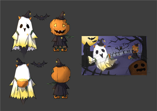 万圣节将至!国服玩家设计皮肤:幽灵提莫与南瓜头木木